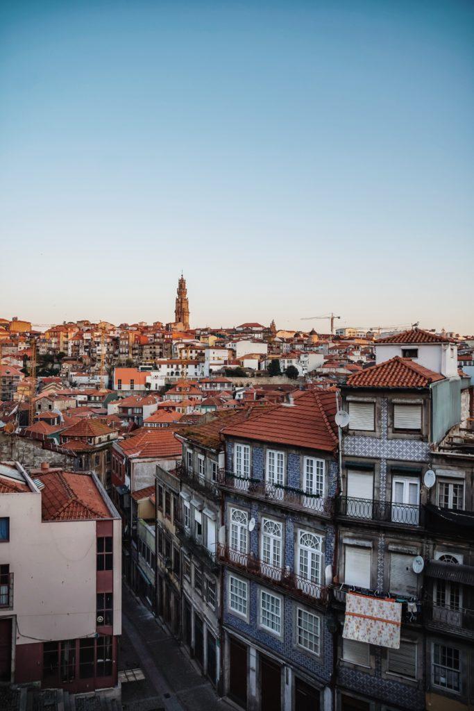 Blick von Se Catedral in Porto