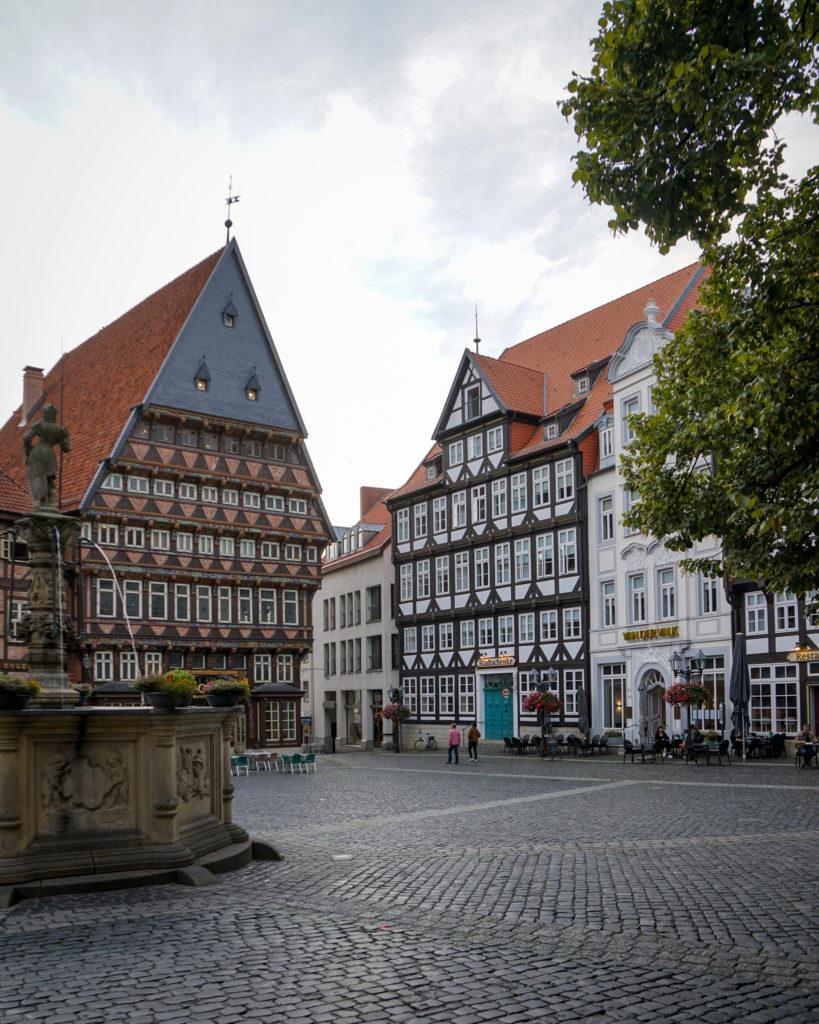 Der Marktplatz von Hildesheim